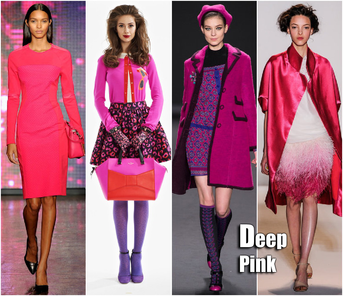New York Fashion Week Fall 2013 Trends Deep Pink Trend DKNY, Kate Spade, Ann Sui, Lela Rose