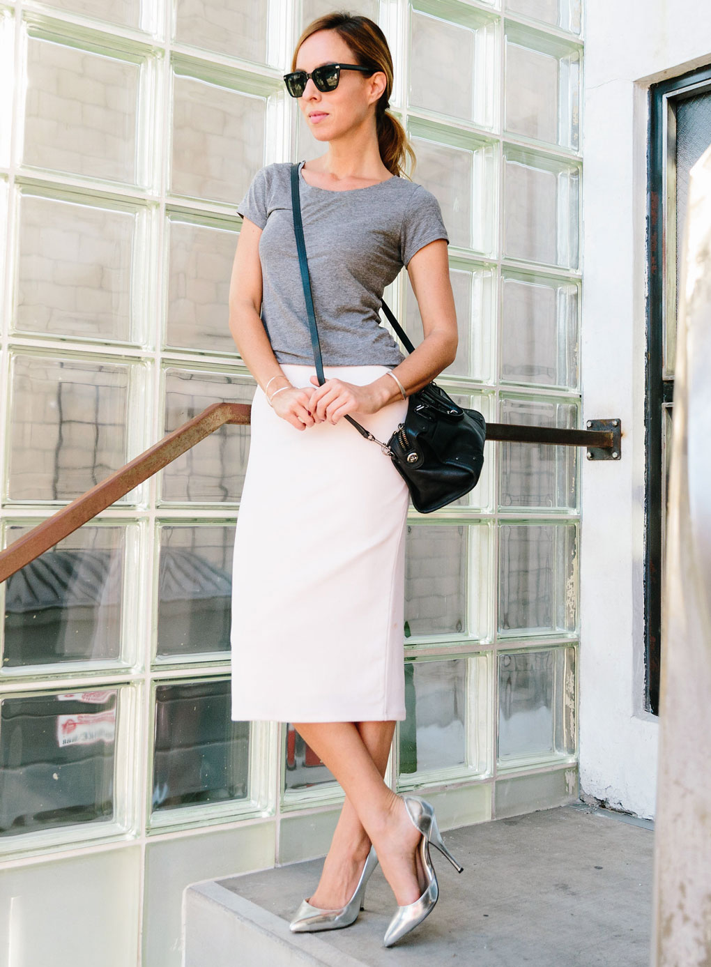 Sydne Style - People StyleWatch contributor Sydne Summer shows how to style Kendall Jenner's gray t-shirt with a skirt and heels in celebrity fashion.