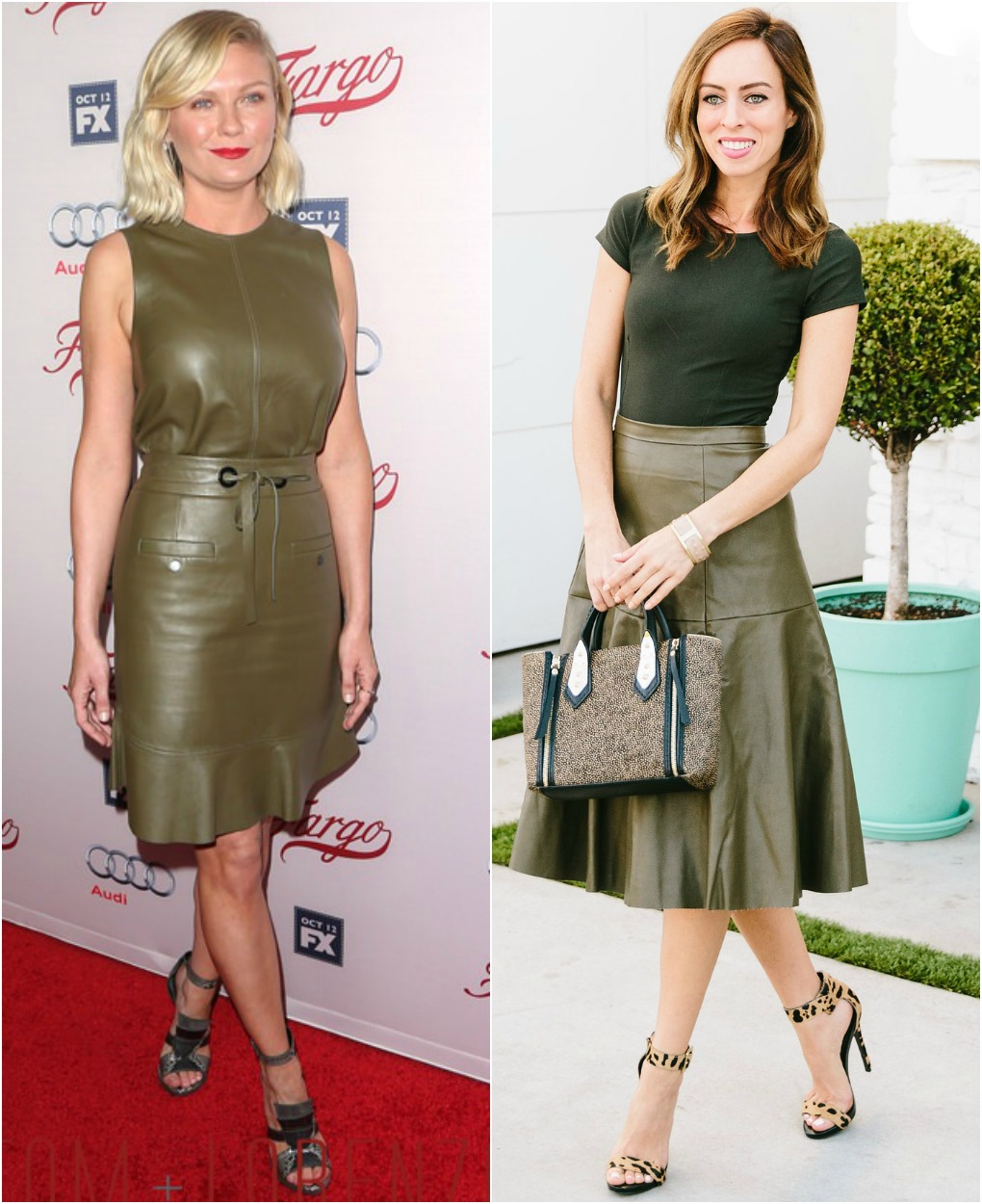 Sydne Style - Los Angeles Fashion Blogger and People StyleWatch contributor Sydne Summer shows how to style Kirsten Dunst's Olive Leather Skirt from the Fargo premiere in celebrity fashion.