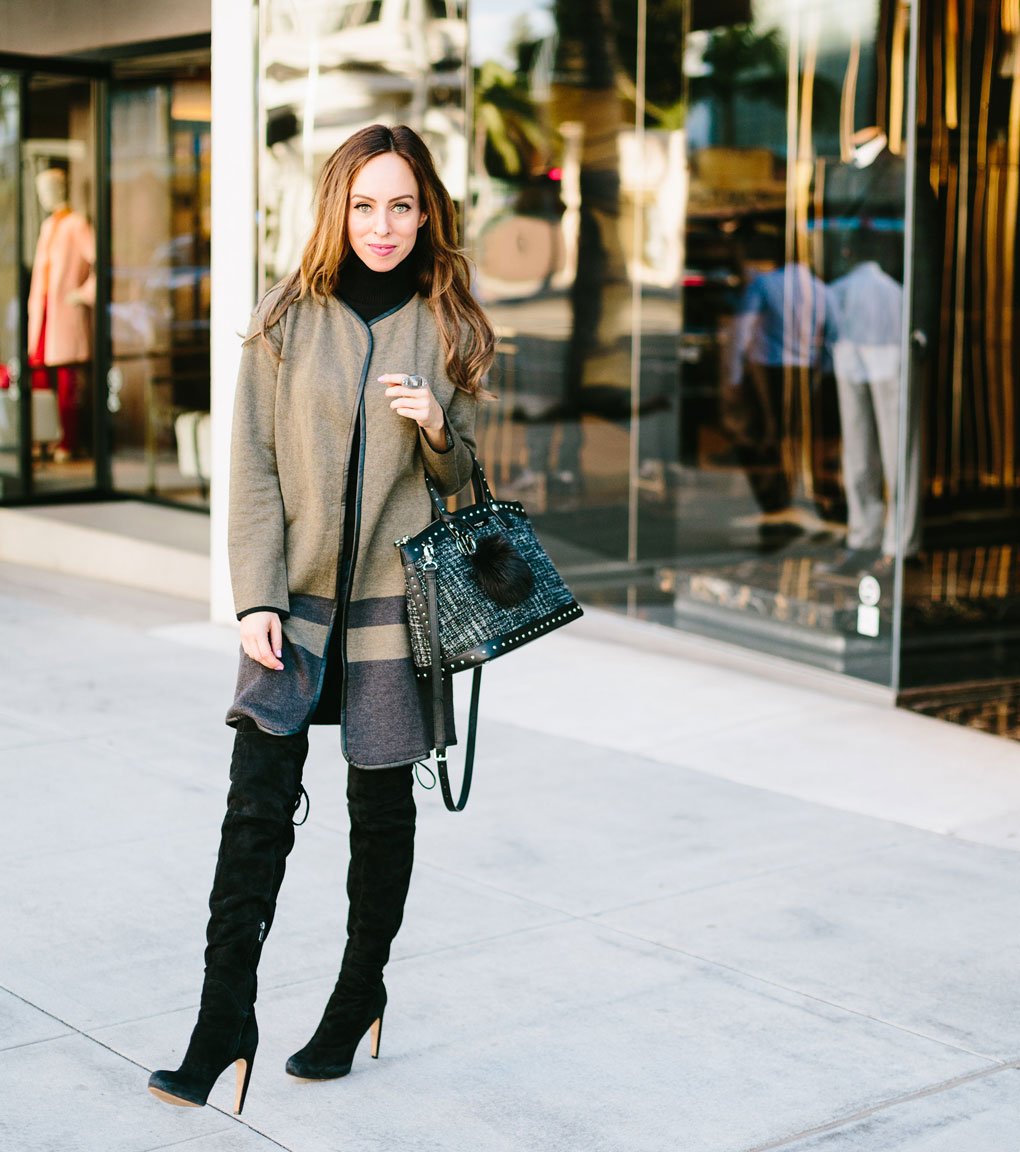 Sydne Style shows how to wear the over the knee boots trend