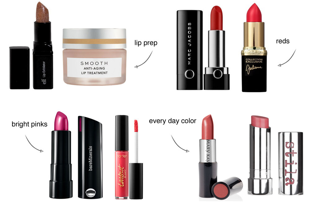 Sydne Style shares her favorite lipsticks with Marc Jacobs Bare Minerals Tarte Stila Mary Kay L'Oreal