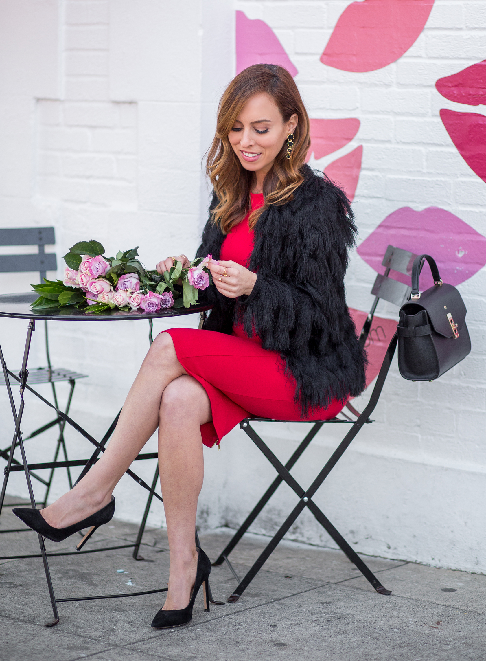 Sydne Style shows easy Valentines Day outfits in an affordable red dress
