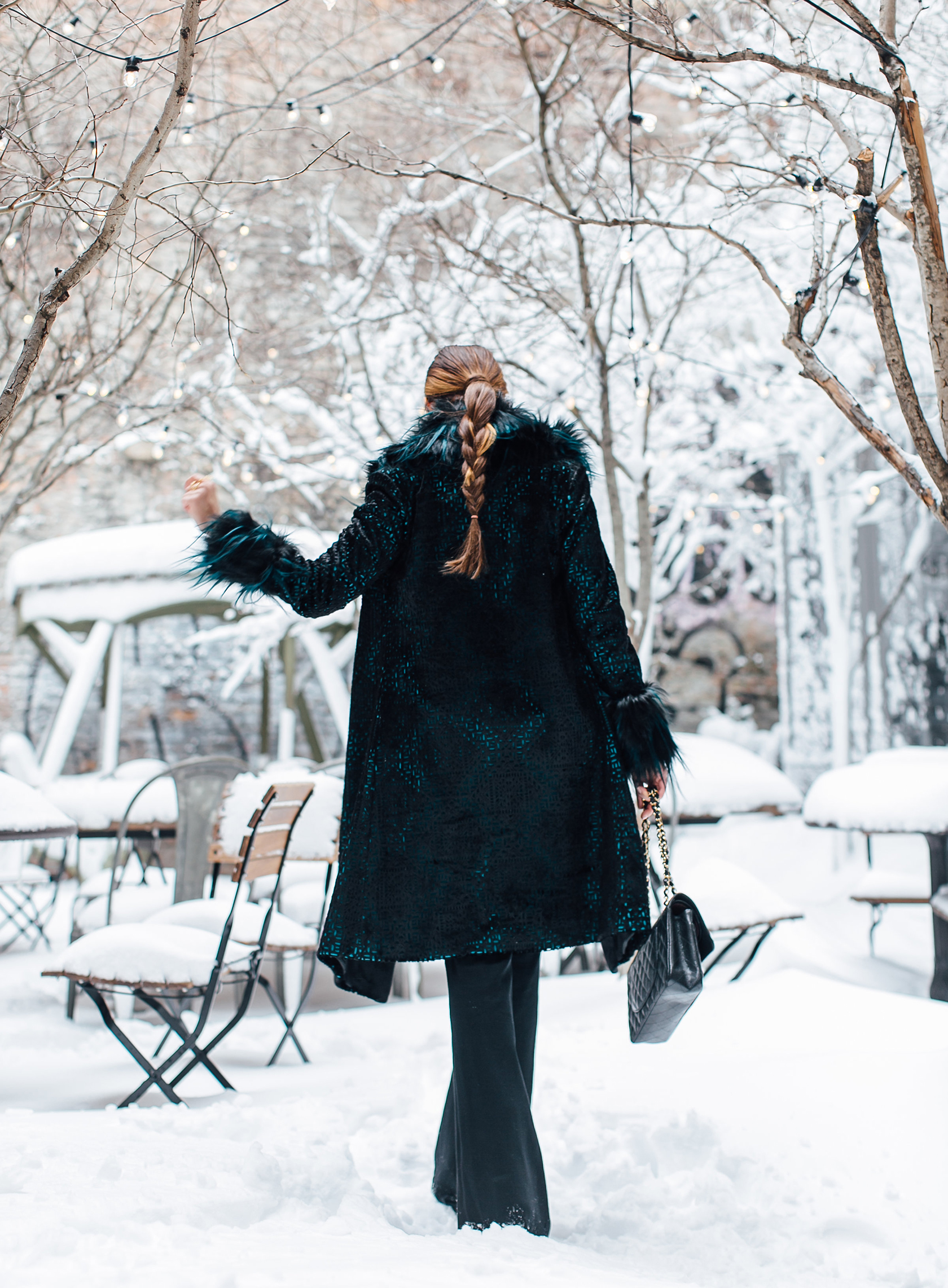 Sydne Style shows the best new york fashion week street style in tadashi shoji velvet coat