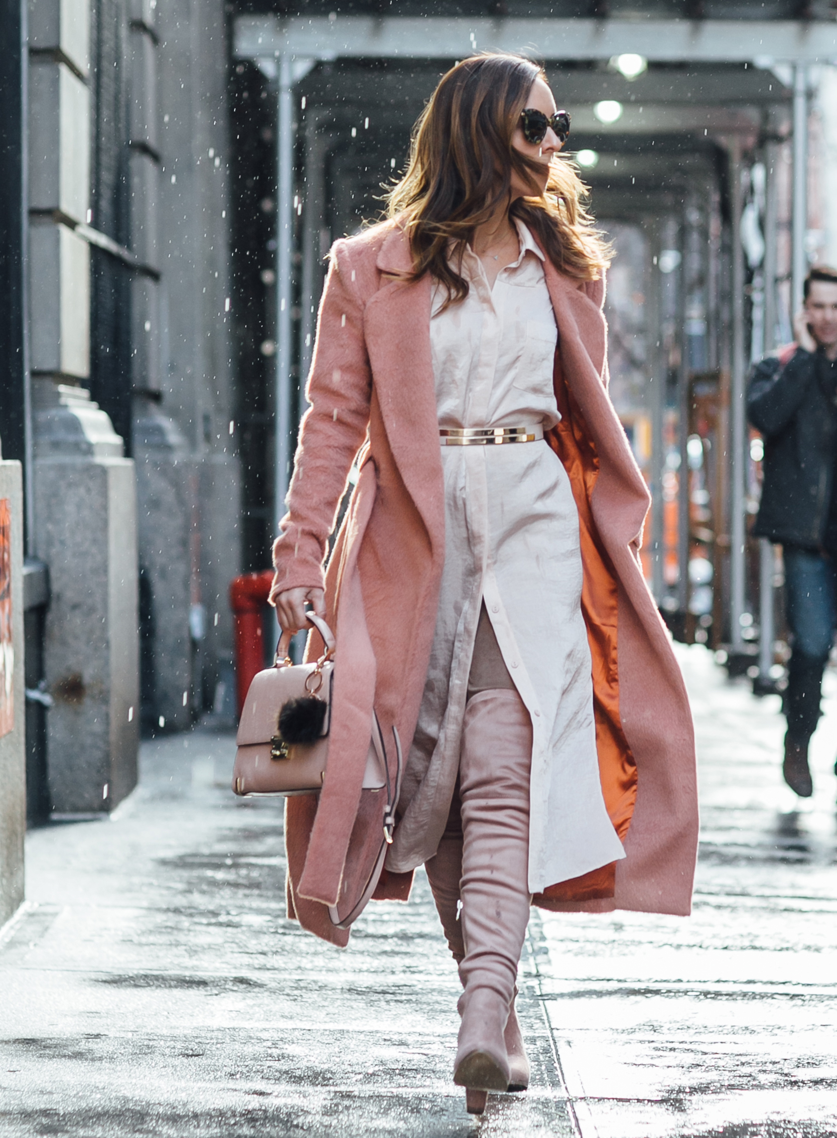 Sydne Style wears Lavish Alice trench coat for new york fashion week street style