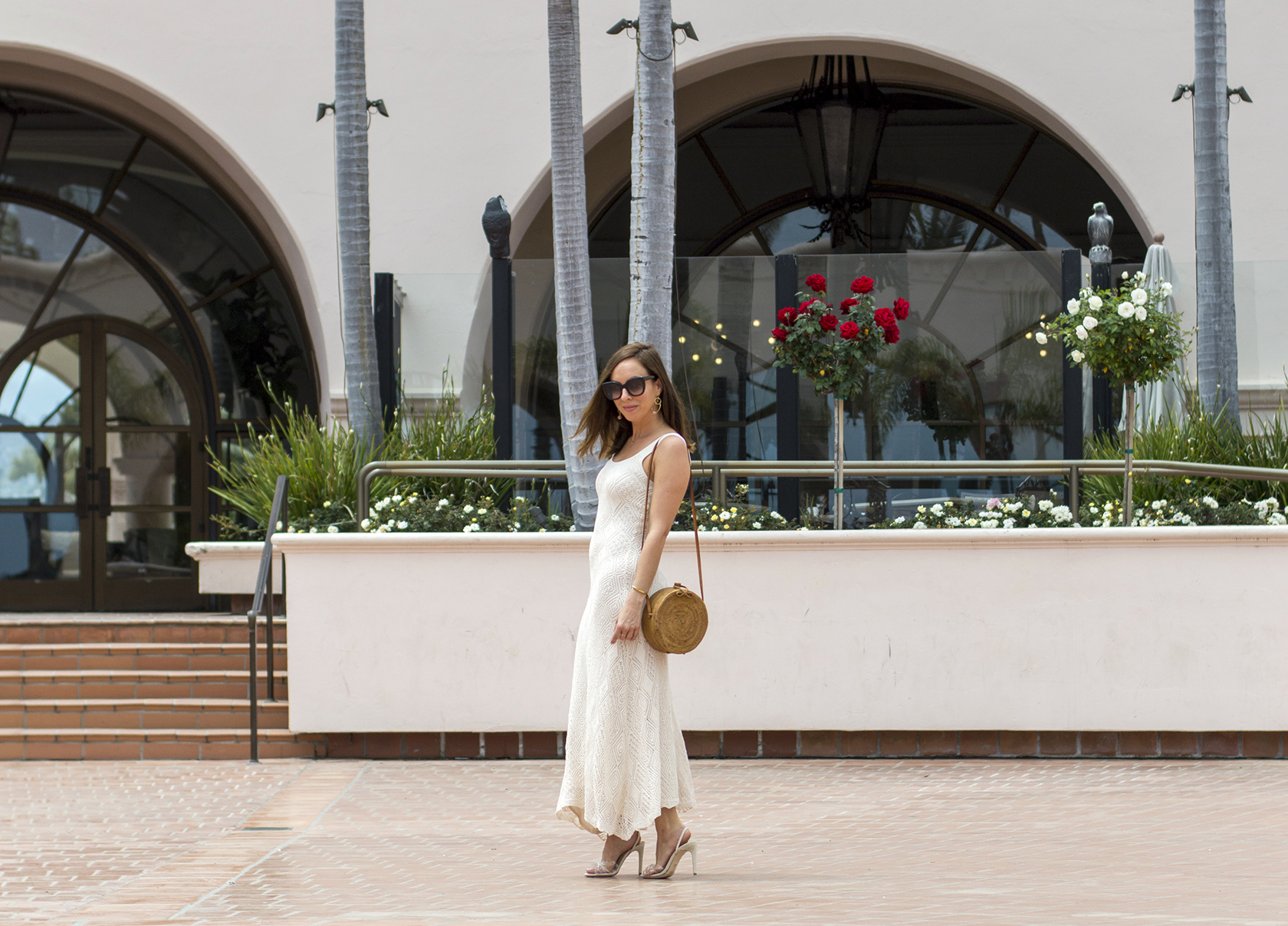 Sydne Style shows what to wear in Santa Barbara at Hilton beachfront resort