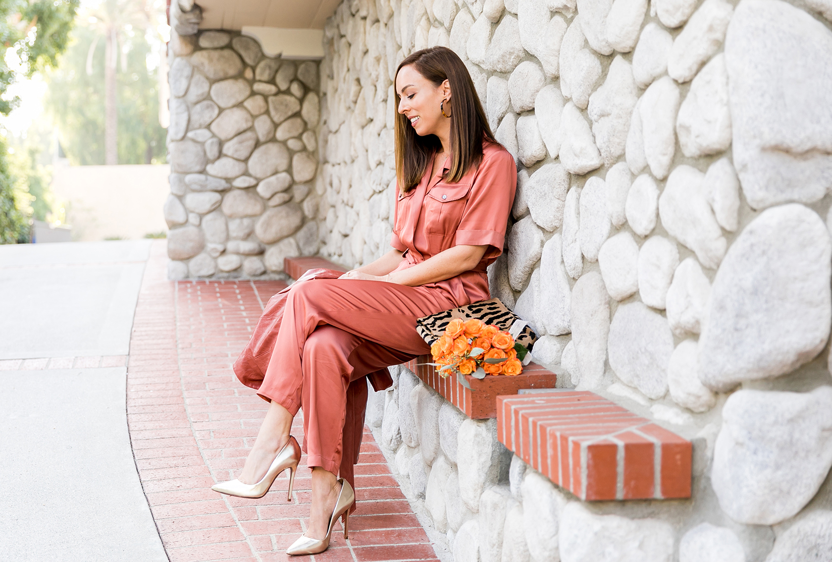 Sydne Style shows what to wear to Thanksgiving in dolan jumpsuit