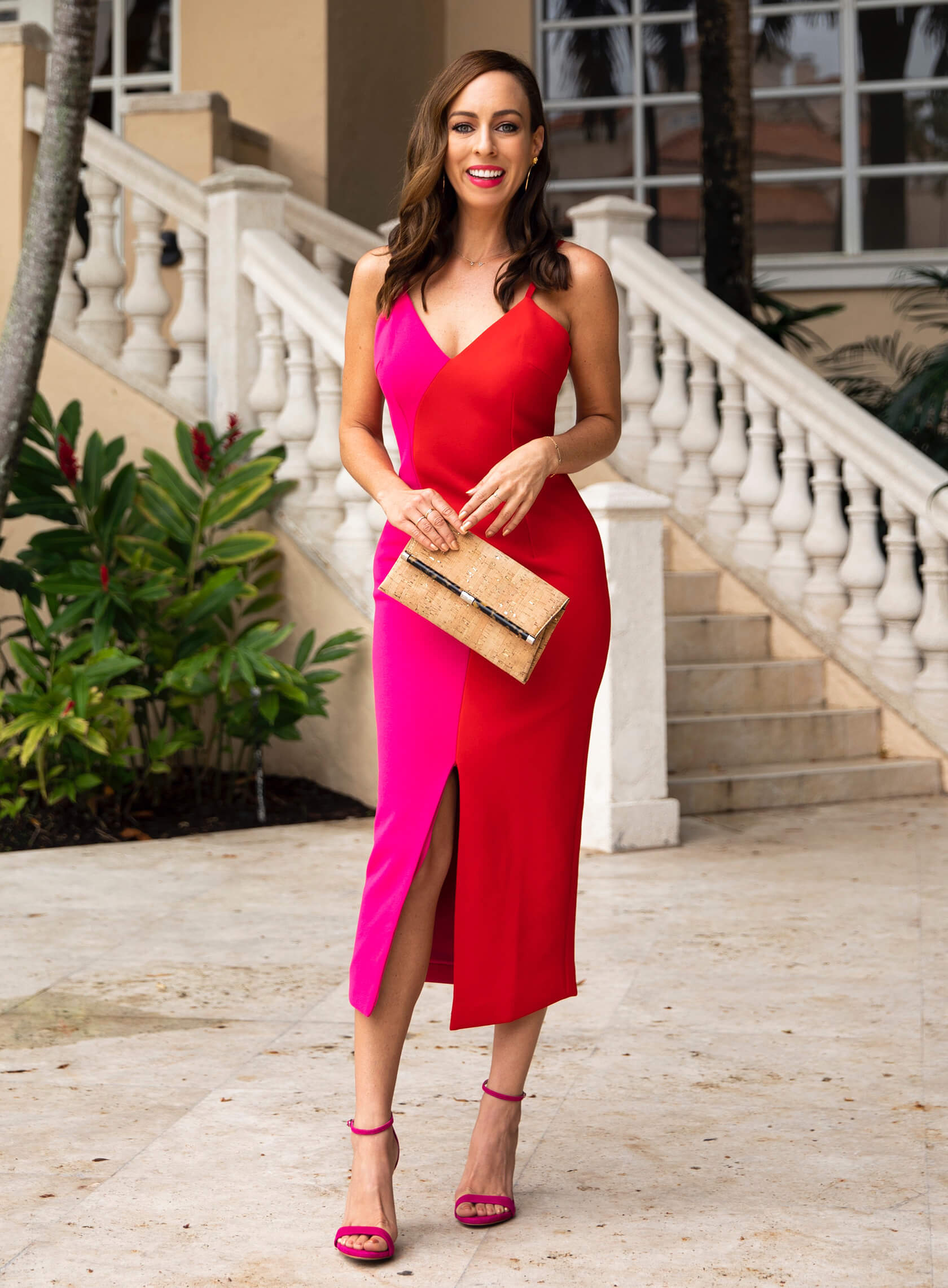 Sydne Style reviews elliat pink and red dres for summer weddings