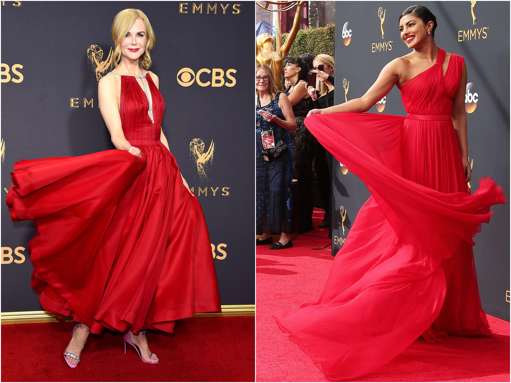 Sydne Style rounds up the best Emmys red dresses of all time with Nicole Kidman and Priyanka Chopra