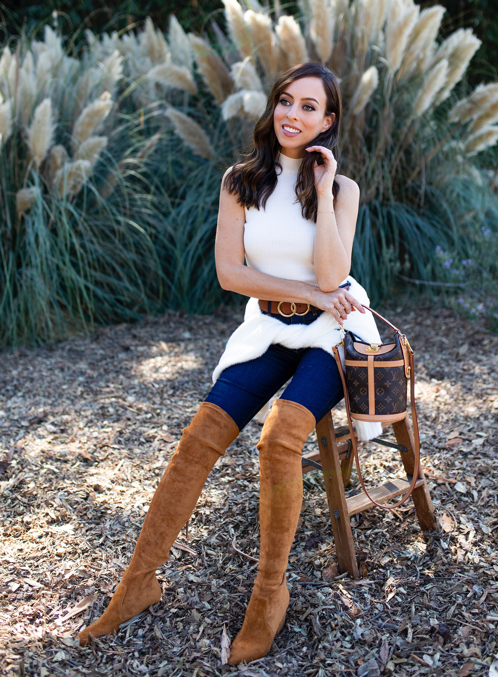 Sydne Style reviews the best over the knee boots for skinny legs with goodnight macaroon boots