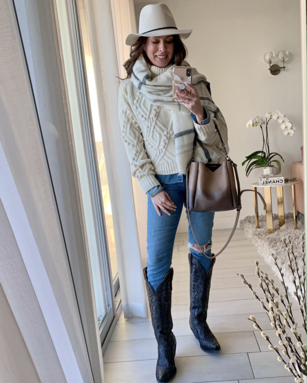 Sydne Style shows how to wear the Western trend with casual outfit ideas with cowboy boots