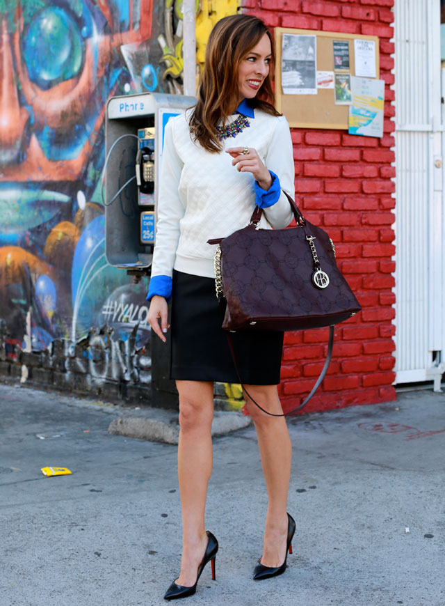 Sydne-Style-wine-colore-handbag-fall-trends-how-to-wear-a-pencil-skirt-leather-sweatshirt-express-expstyle-fall-2013-fashion-trends-street-style