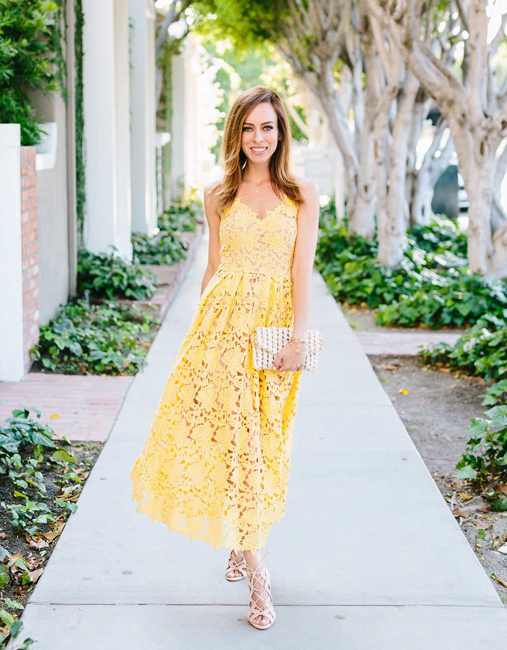 c9d2bf93f2ac ... Sydne Style wears H&m yellow lace dress inspired by Self Portrait  celebrity favorite
