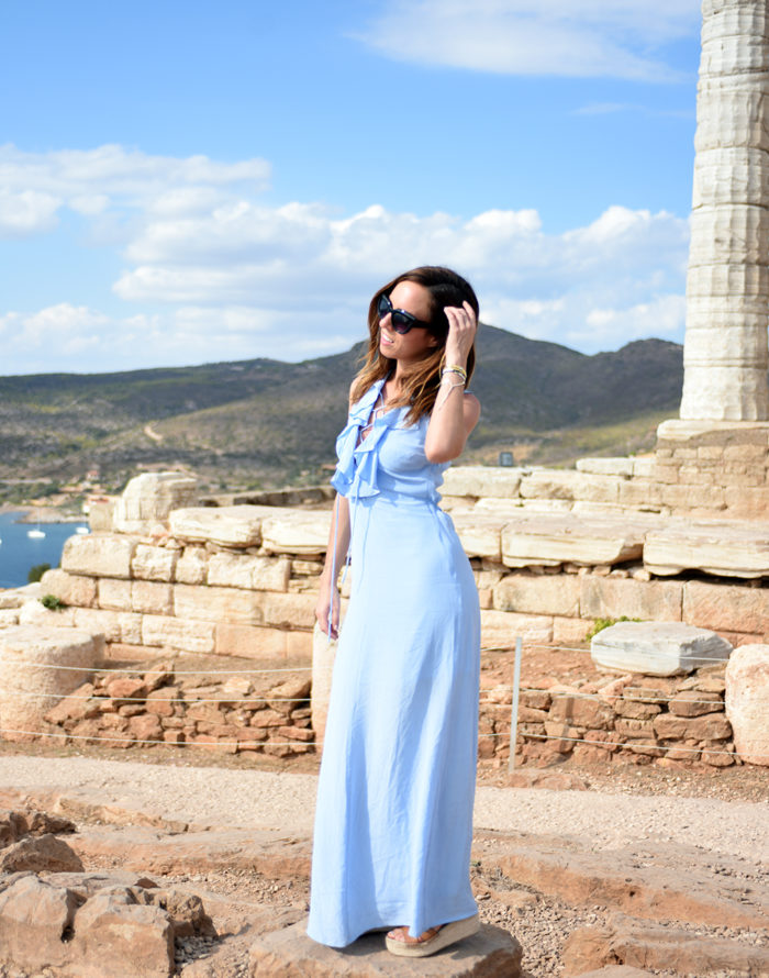 Exploring Ancient Athens in a Blue Maxi