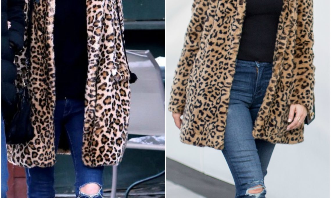 Sydne Style shows how to get Nicky Hilton's leopard coat street style for less in zara