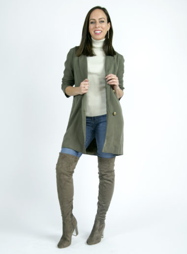 Sydne Style shows how to wear over the knee boots for fall