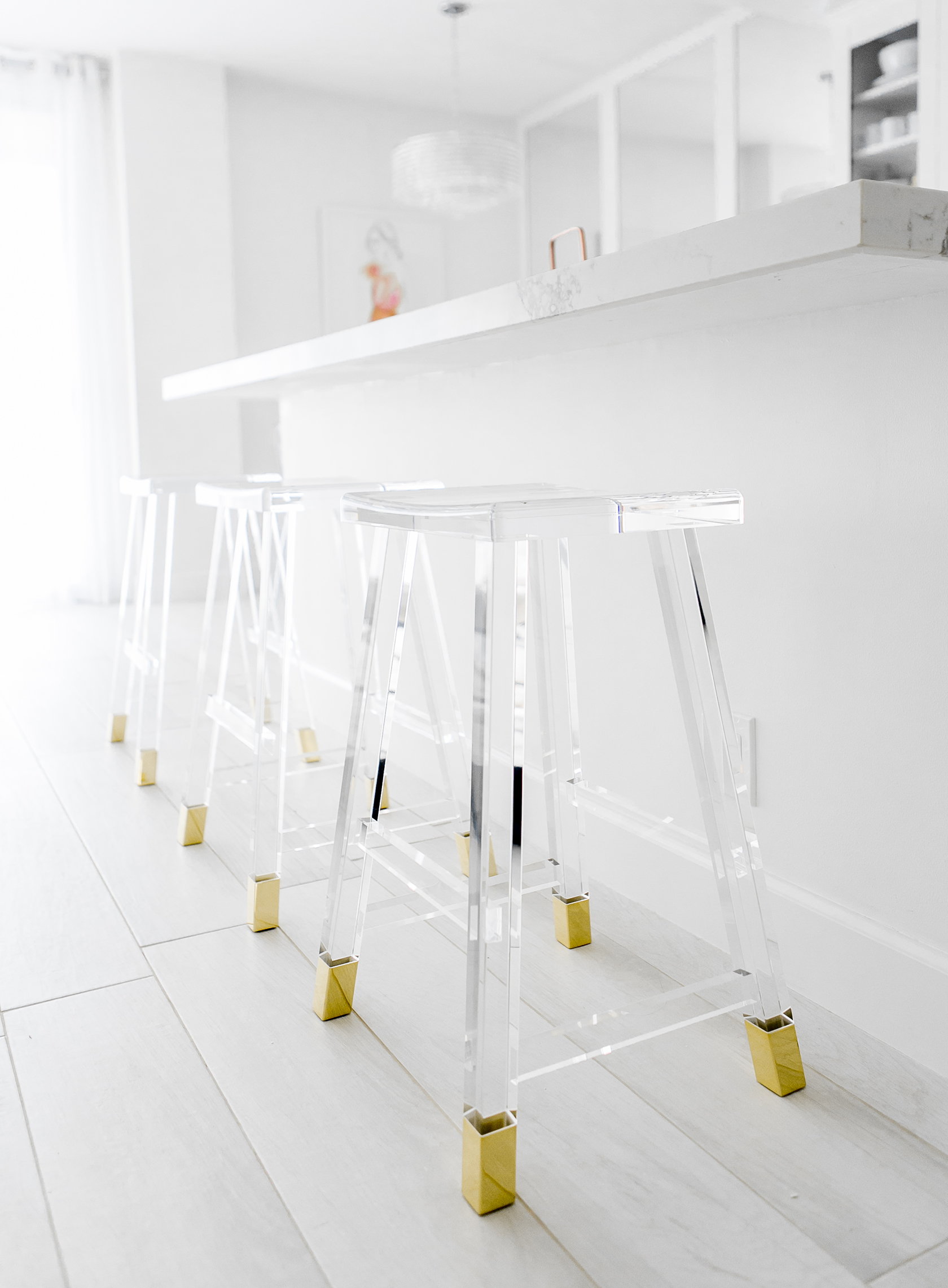 Sydne Style reviews clear barstools from kathy kuo home for lucite home trend