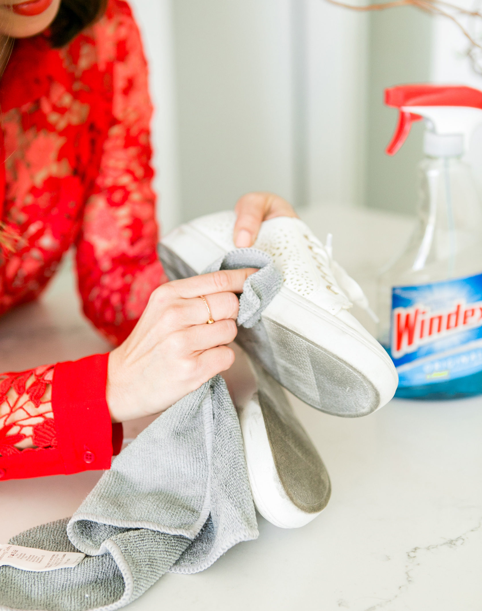 Sydne Style shares cleaning hacks for how to clean white sneakers