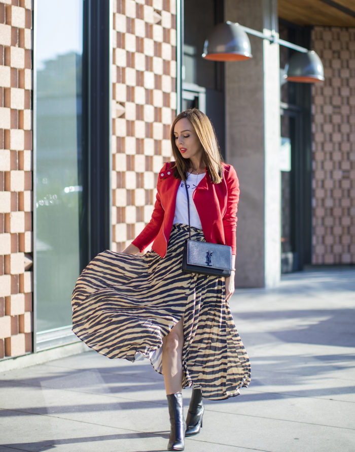 How to Wear an Animal Print Skirt Now & Later