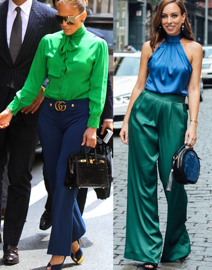 Blue & Green Colorblocking: Celebrity Colorblock Crushes