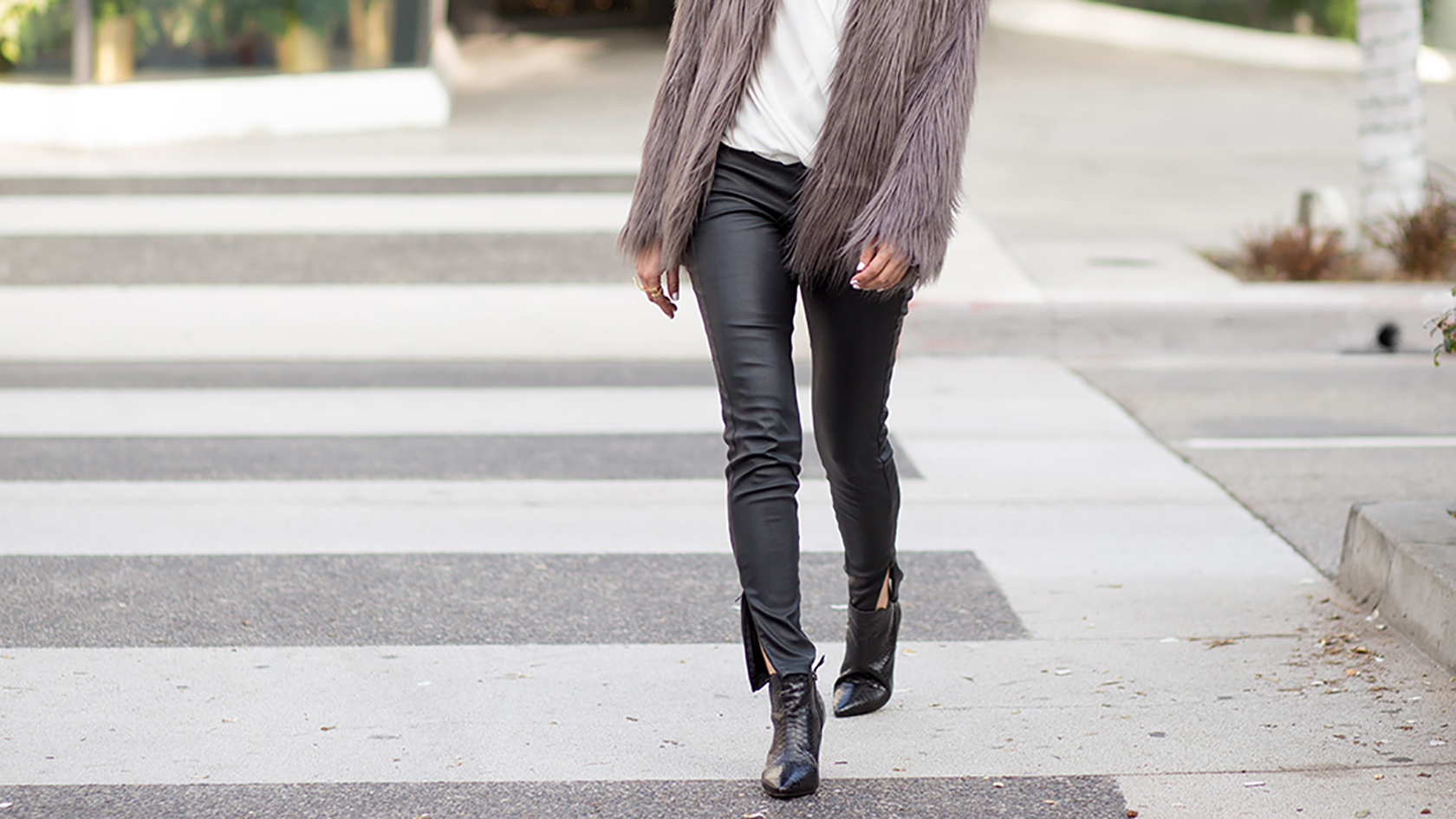 Sydne Style shows how to wear leather for fall 2018