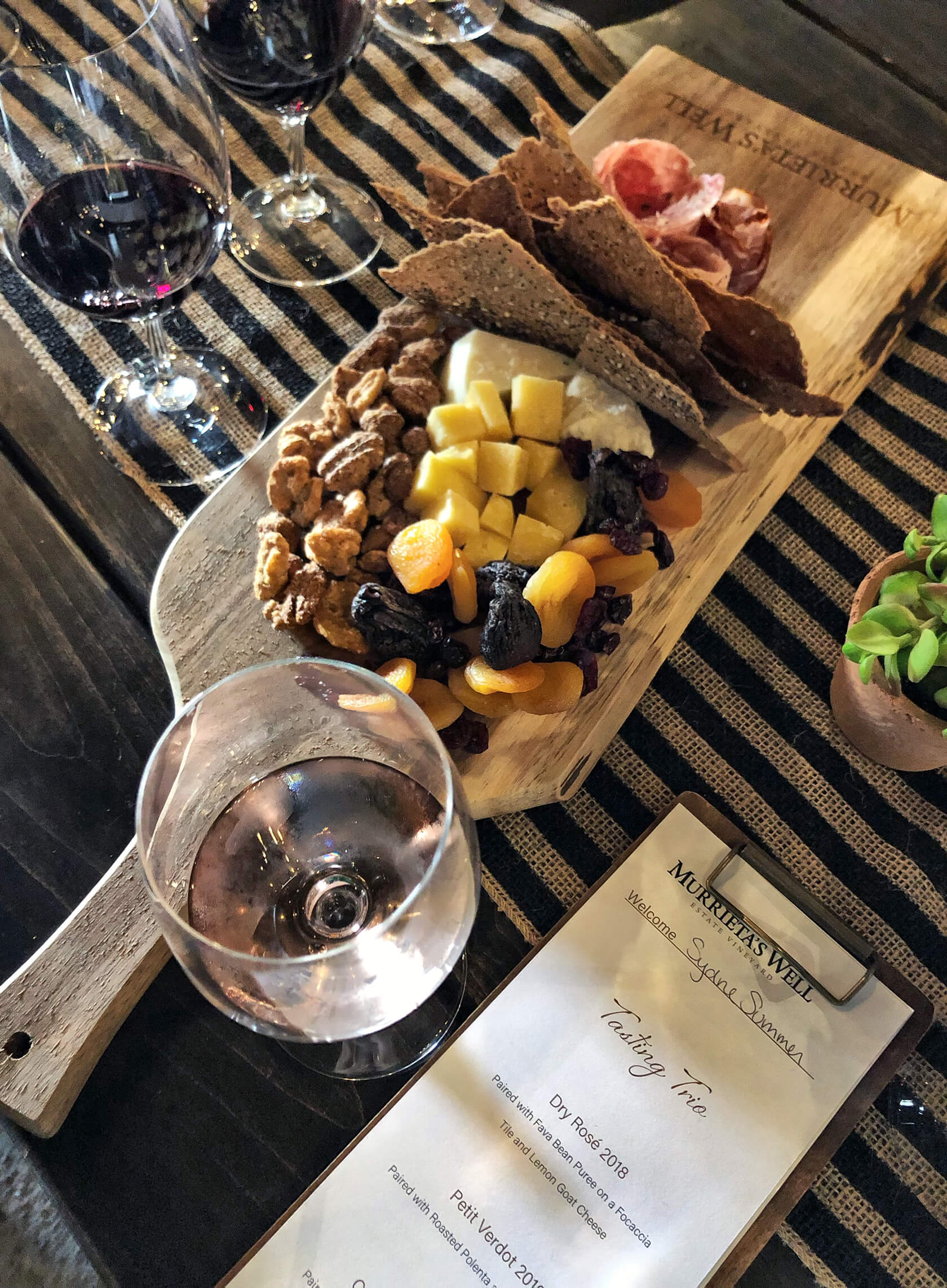 Sydne Style reviews Livermore Valley Wine Country with cheese board at murrieta's well