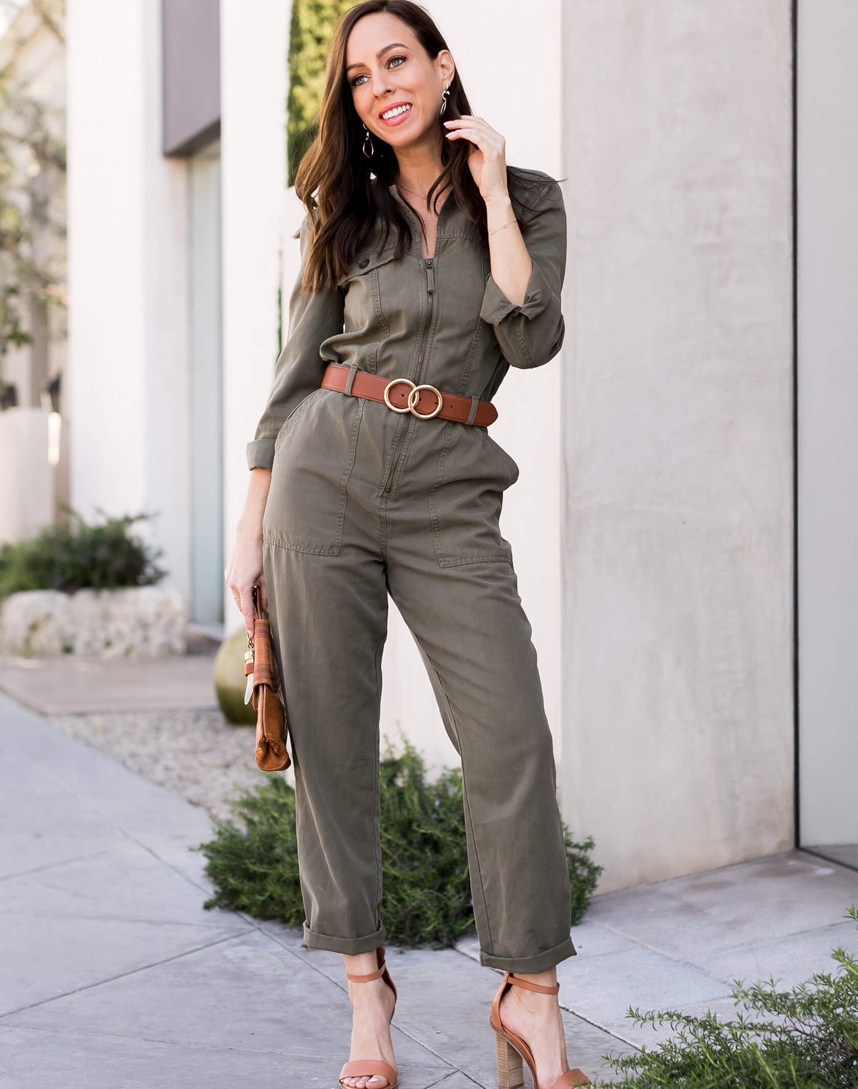 Sydne Style shows how to wear the boilersuit trend for spring for petite girls