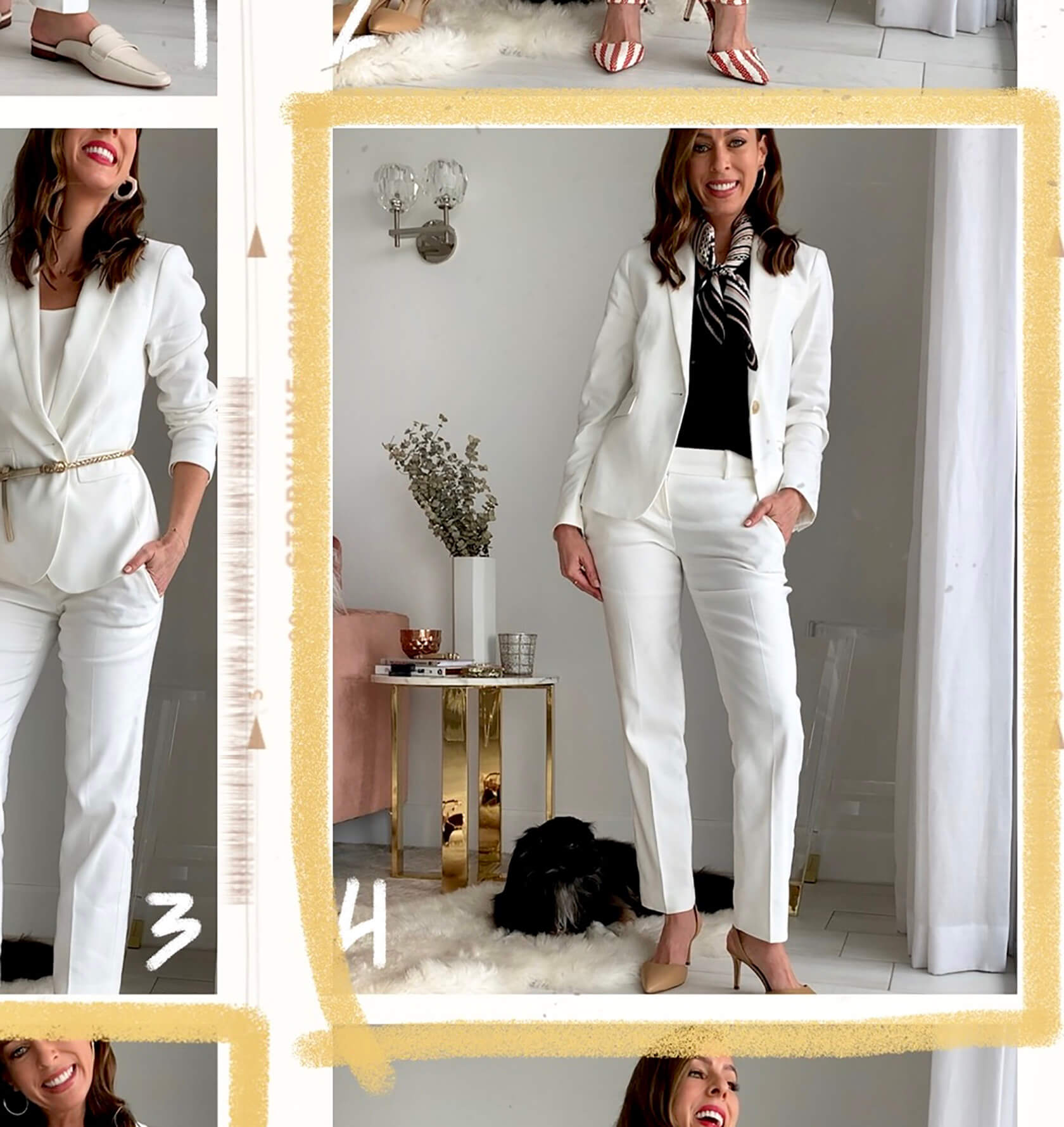 424e39fa69f5 Sydne Style shows how to wear a white suit for office outfit ideas