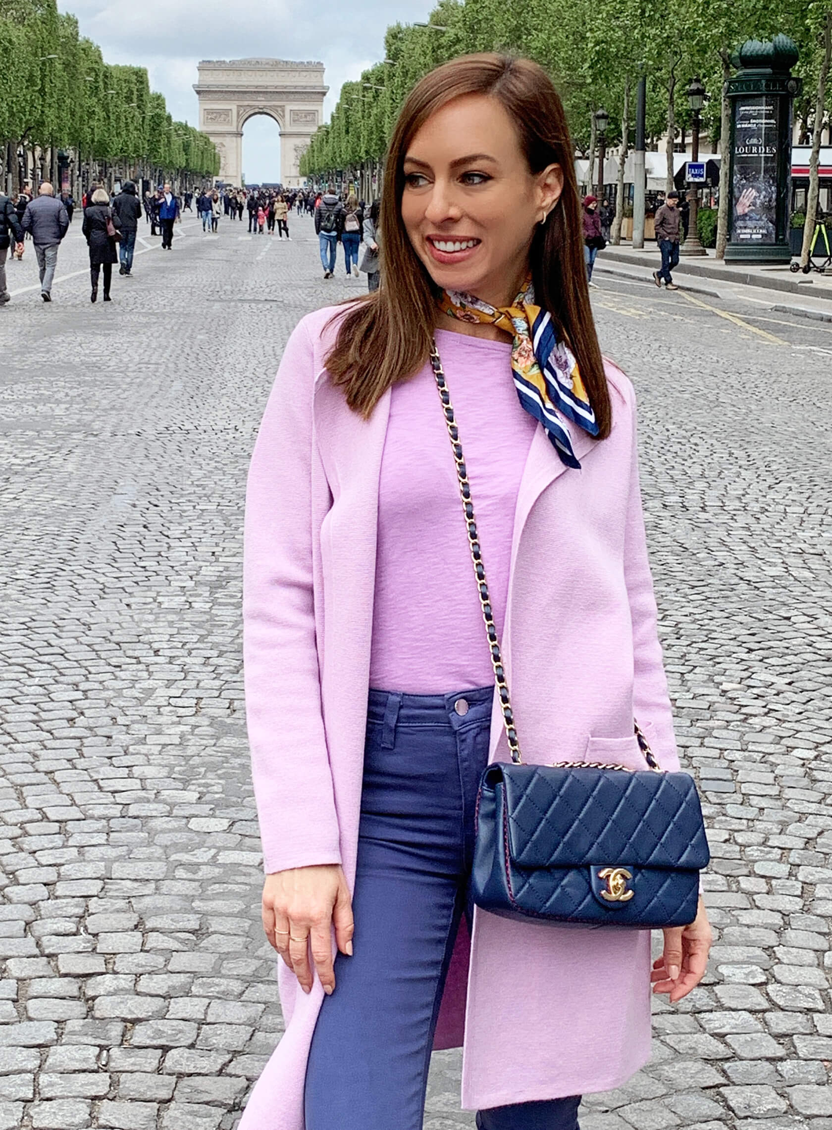 Sydne Style shows what to wear to Paris in May in chanel bag