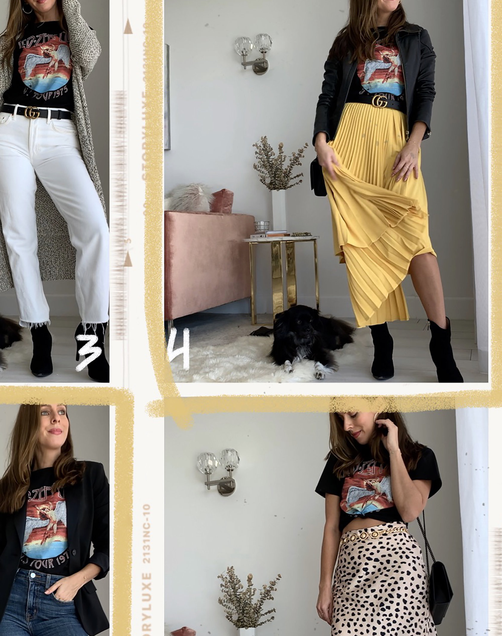 Sydne Style shows ways to wear a graphic tee for fall outfit ideas