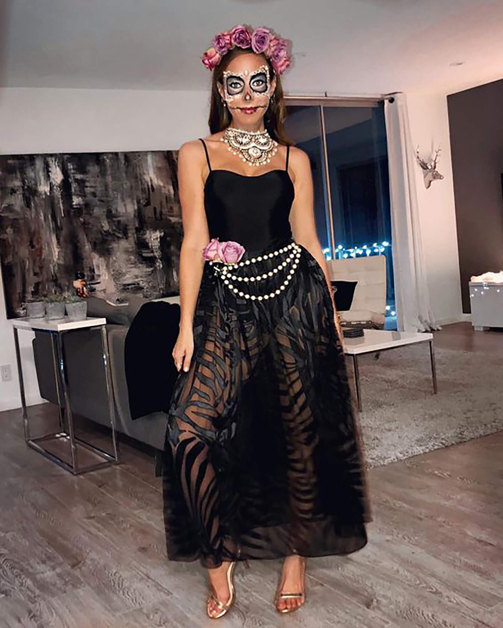Sydne Style shows day of the dead costume ideas for halloween