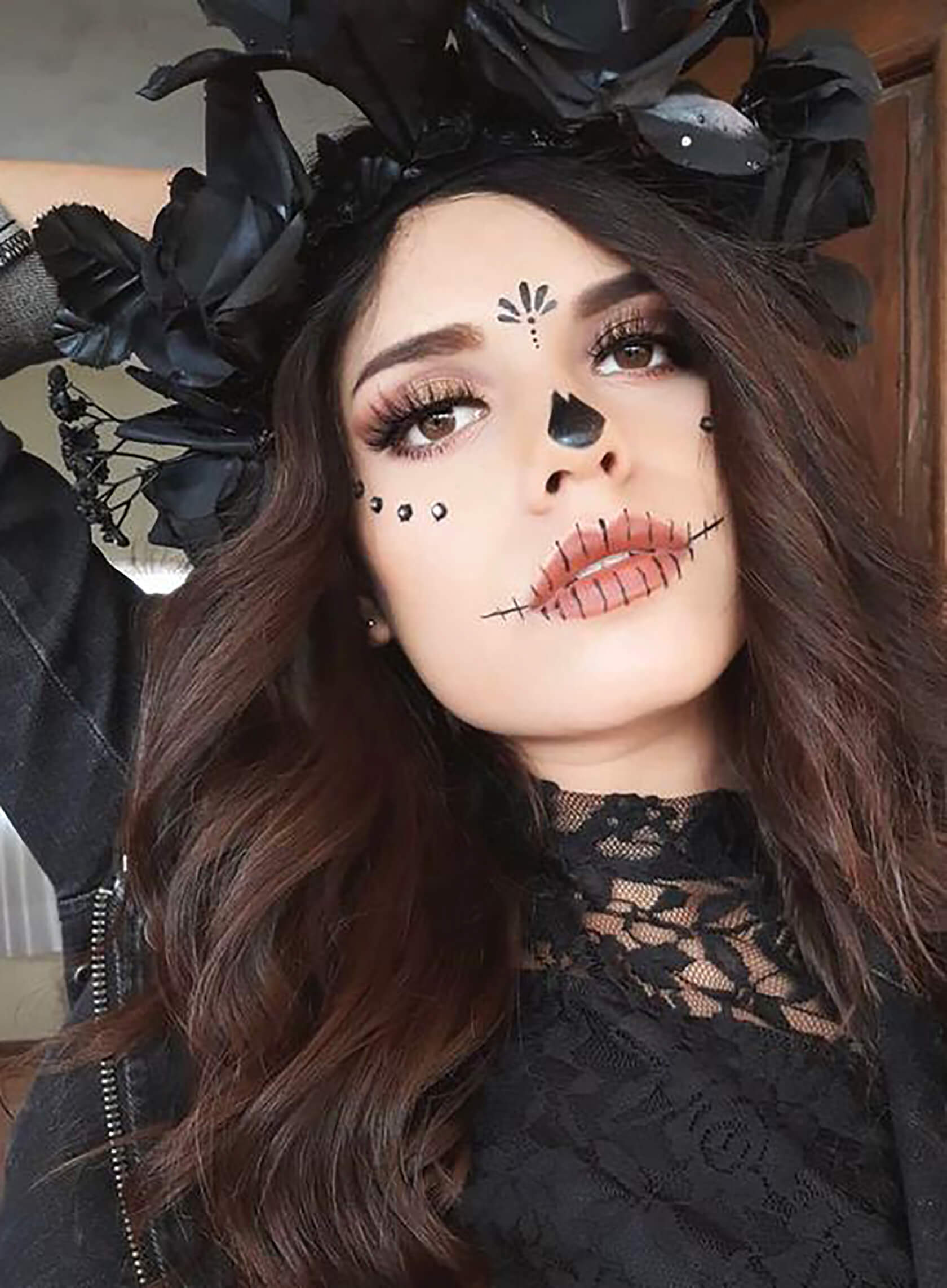 Sydne Style shows easy day of the dead makeup ideas