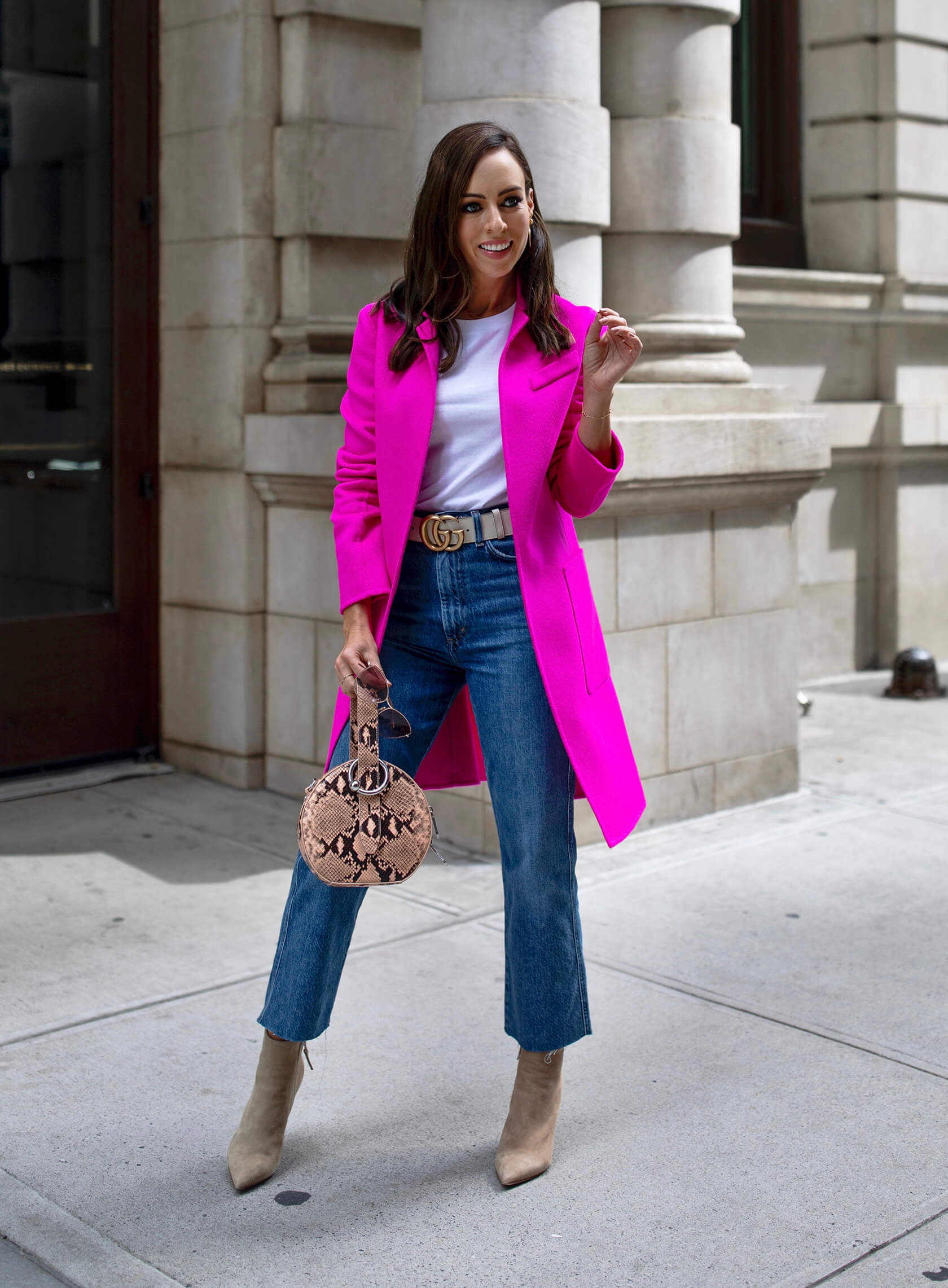 Sydne Style shows the best hot pink coats for colorful fashion ideas