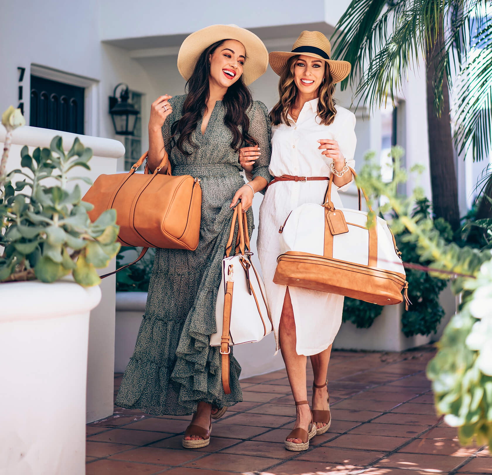 Sydne Style and Elizabeth Keene show the best travel accessories with sole society